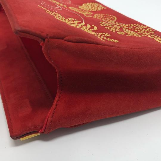 St. John Red Clutch Image 6