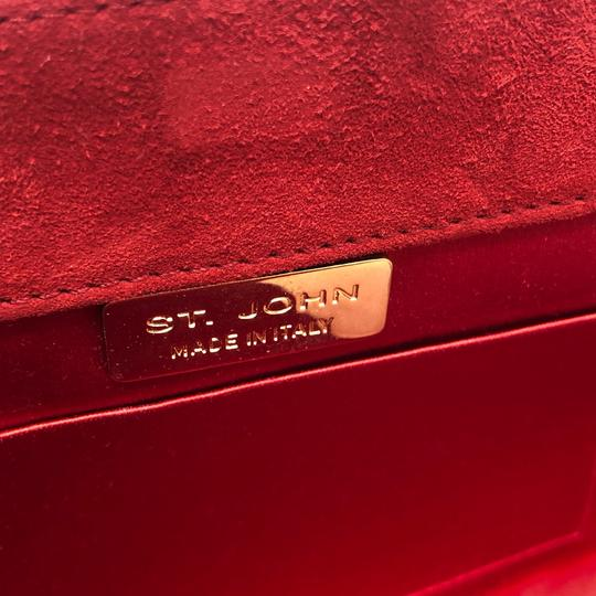 St. John Red Clutch Image 7