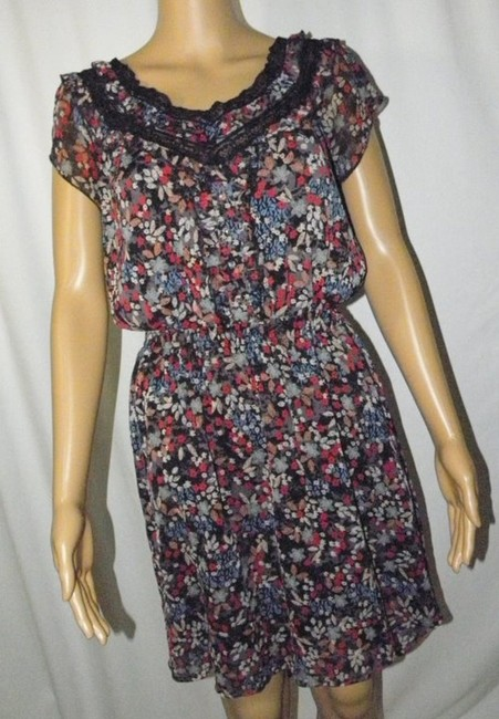 American Rag Cie short dress black/multi High-low Cap Sleeve Business on Tradesy Image 1