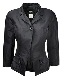 Chanel Fitted Buttons Black Blazer