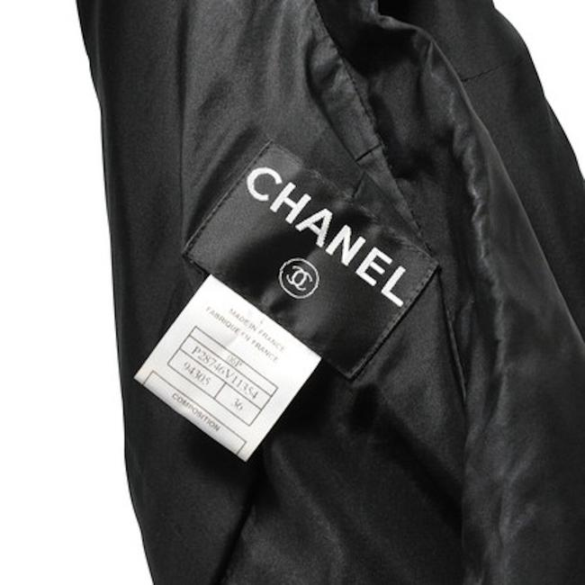 Chanel Fitted Buttons Black Blazer Image 2