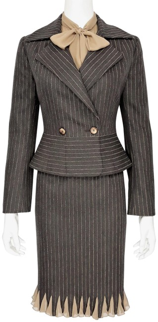 Preload https://img-static.tradesy.com/item/24406763/kenth-andersson-brown-and-camel-vintage-80-s-wool-jacketskirt-silk-bow-blouse-skirt-suit-size-6-s-0-1-650-650.jpg