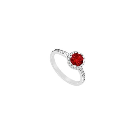 Preload https://img-static.tradesy.com/item/24406788/red-created-ruby-and-cubic-zirconia-halo-engagement-in-14k-white-gold-ring-0-0-540-540.jpg