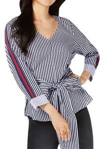 Almost Famous Clothing Top Blue Stripe