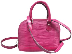 Louis Vuitton Lv Alma Nano Epi Satchel in Fuchsia