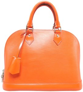 Louis Vuitton Lv Alma Pm Epi Satchel in Orange