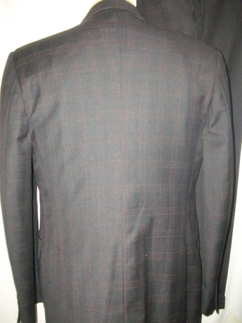 Jack Victor Jack Victor Plaid Wool Three-Button Suit Sz 41R Image 2