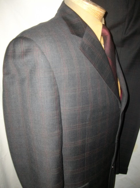 Jack Victor Jack Victor Plaid Wool Three-Button Suit Sz 41R Image 3