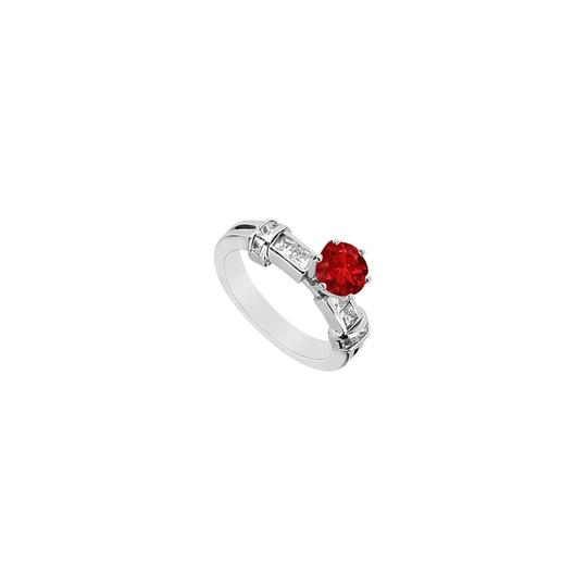Preload https://img-static.tradesy.com/item/24407031/red-half-ct-princess-cut-cubic-zirconia-and-created-ruby-engagement-i-ring-0-0-540-540.jpg