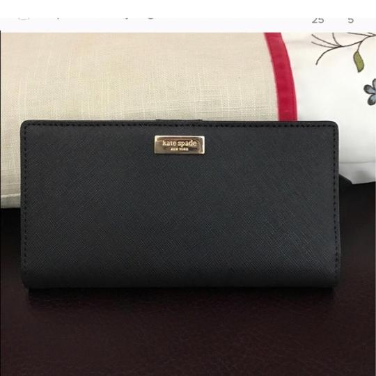 Kate Spade Stacey Wallet In Black Leather Kate spade leather wallet Stacey new Image 1