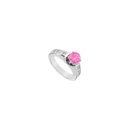Preload https://img-static.tradesy.com/item/24407081/pink-princess-cut-cubic-zirconia-engagement-with-created-sapphire-ring-0-0-540-540.jpg