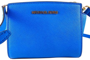 Michael Kors Leather 888235857633 Heritage Blue Messenger Bag