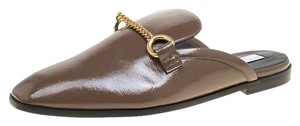 Stella McCartney Faux Patent Leather Brown Flats