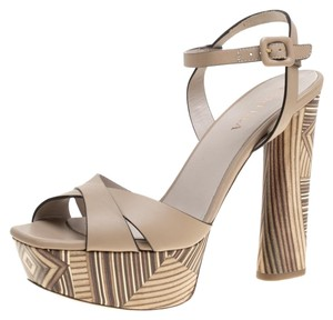 Le Silla Leather Beige Sandals