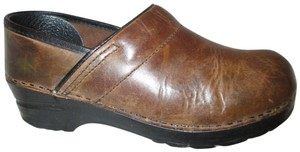 Dansko Leather Distressed brown Mules