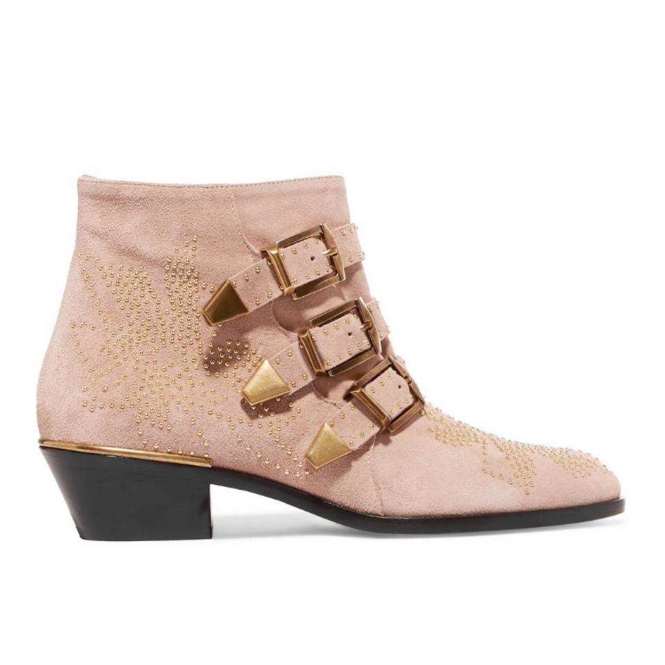 058a2ad5d0845 Chloé Susanna Studded Suede Leather Ankle Boots Booties Size US 7.5 ...