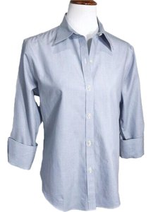Brooks Brothers Button Down Shirt Blue White