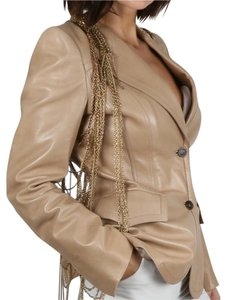 Gucci Party Beige Leather Jacket
