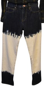 Isabel Marant Bleach Out Ombre Dip Dye Skinny Jeans-Acid