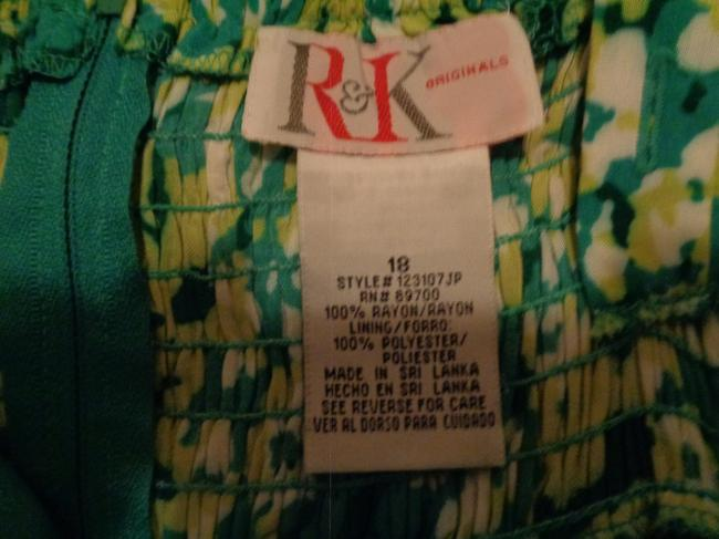 Green Yellow Maxi Dress by R&K Originals Image 5