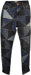 Isabel Marant Contemporary Mid-rise Quilted Skinny Jeans
