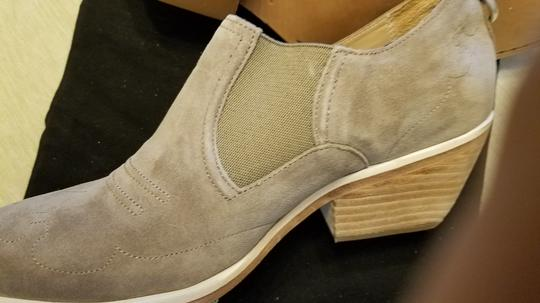 Rag & Bone Suede Cowboy Never Worn Stacked Heel Stretched Inserts Stone Boots Image 9