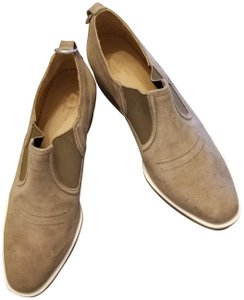 Rag & Bone Suede Cowboy Never Worn Stacked Heel Stretched Inserts Stone Boots