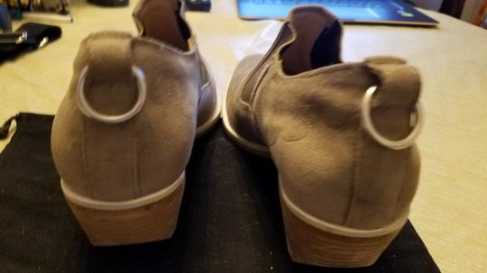 Rag & Bone Suede Cowboy Never Worn Stacked Heel Stretched Inserts Stone Boots Image 6