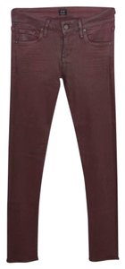 Citizens of Humanity Rayon Cotton Skinny Fall Winter Jeggings-Coated