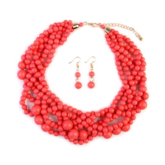 Preload https://img-static.tradesy.com/item/24407955/dusty-pink-multi-strand-bubble-choker-and-earring-set-necklace-0-0-540-540.jpg