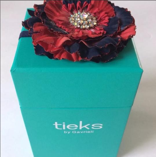 Tieks Navy and Red Flats Image 6