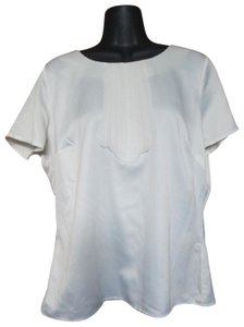 East 5th Essentials Luxe Pleated Dress Shirt Career Job Top White
