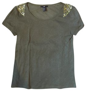 H&M T Shirt green