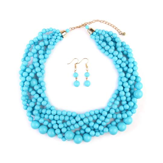 Preload https://img-static.tradesy.com/item/24408038/turquoise-multi-strand-bubble-choker-and-earring-set-necklace-0-0-540-540.jpg