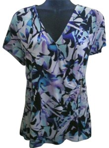 212 Collection Wrap Formal Career Work Spring Top Multicolored