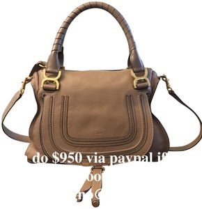 Chloé Classic Marcie Iconic New Tote in Tan