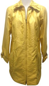 Anthracite Ruffled Belted yellow Jacket