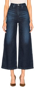 AG Adriano Goldschmied Wide Nautical Culottes High Waist Flare Leg Jeans-Dark Rinse