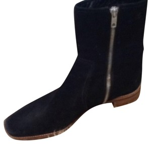 Isaac Mizrahi Black Suede Leather Boots Boots