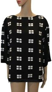 Marimekko Bold Graphic And Top Black with white pattern
