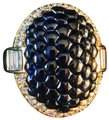 Other Honeycomb sapphire and brilliant and baguette diamond halo Image 1
