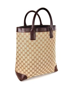 Gucci Weekender Neverfull Monogram Shopper Italy Tote in Brown