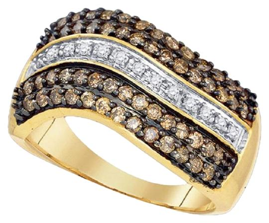 Preload https://img-static.tradesy.com/item/24408523/jewelry-unlimited-yellow-gold-ladies-10k-white-and-cognac-brown-real-diamond-band-10-ct-ring-0-1-540-540.jpg