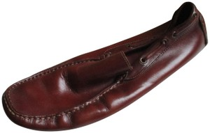To Boot New York Leather Loafer Tonal Stitching Rubber Soles Llined Insoles Adam Derrick Chestnut Brown Flats