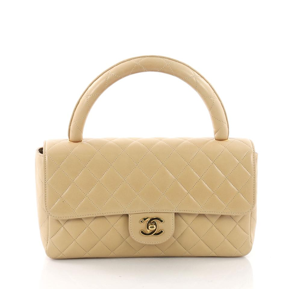 9a8226a5384e Chanel Classic Flap Vintage Twin Top Handle Quilted Lambskin Medium ...