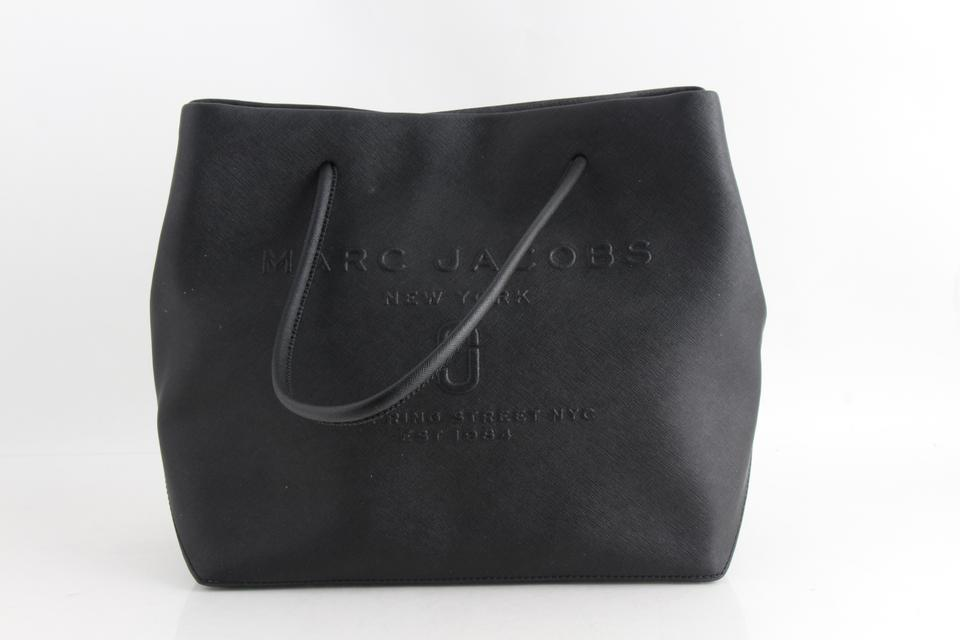 5f95ef725820 Marc by Marc Jacobs Logo Shopper East-west Black Cowhide Leather Tote -  Tradesy