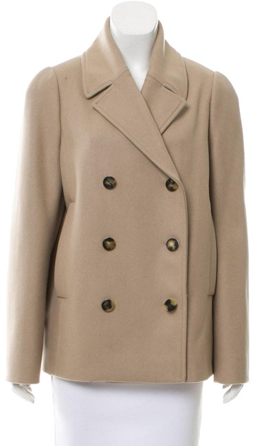 Item - Beige Wool Double Breasted Coat Size 10 (M)