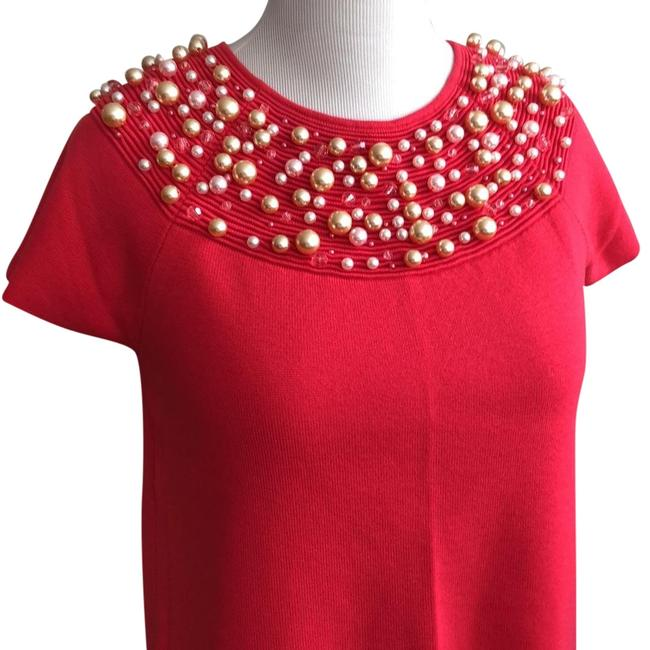 Item - Salmon Pearled Knitted Blouse Size 14 (L)