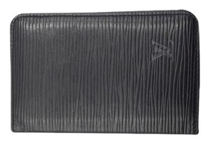 Louis Vuitton Epi Black Leather Card holder wallet