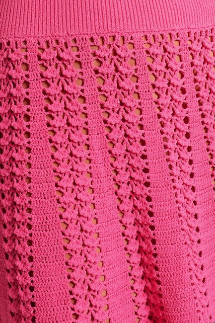 Michael Kors Collection Pink Fluted Crocheted Mid-length Casual Maxi Dress Size 12 (L) Michael Kors Collection Pink Fluted Crocheted Mid-length Casual Maxi Dress Size 12 (L) Image 9